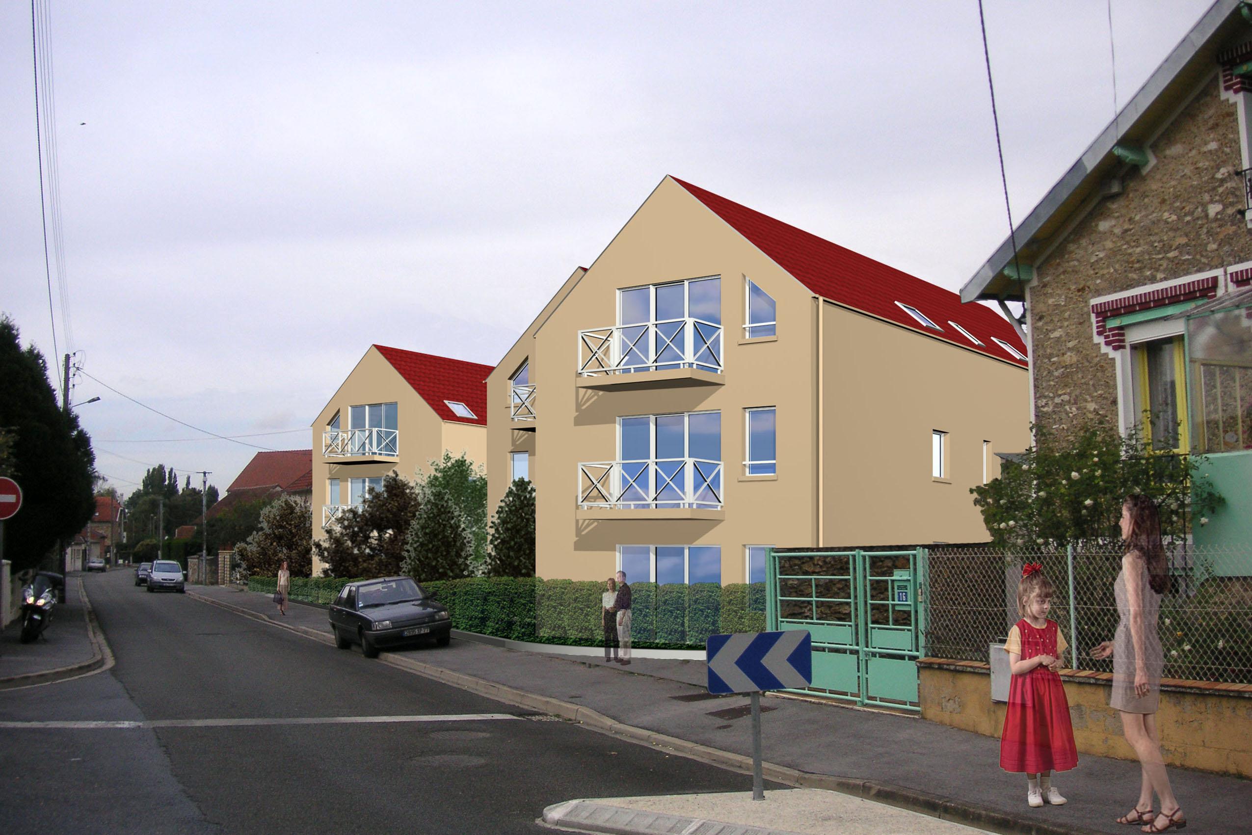 Immeuble rue des joncs coulommiers jonas architecte for Architecte coulommiers